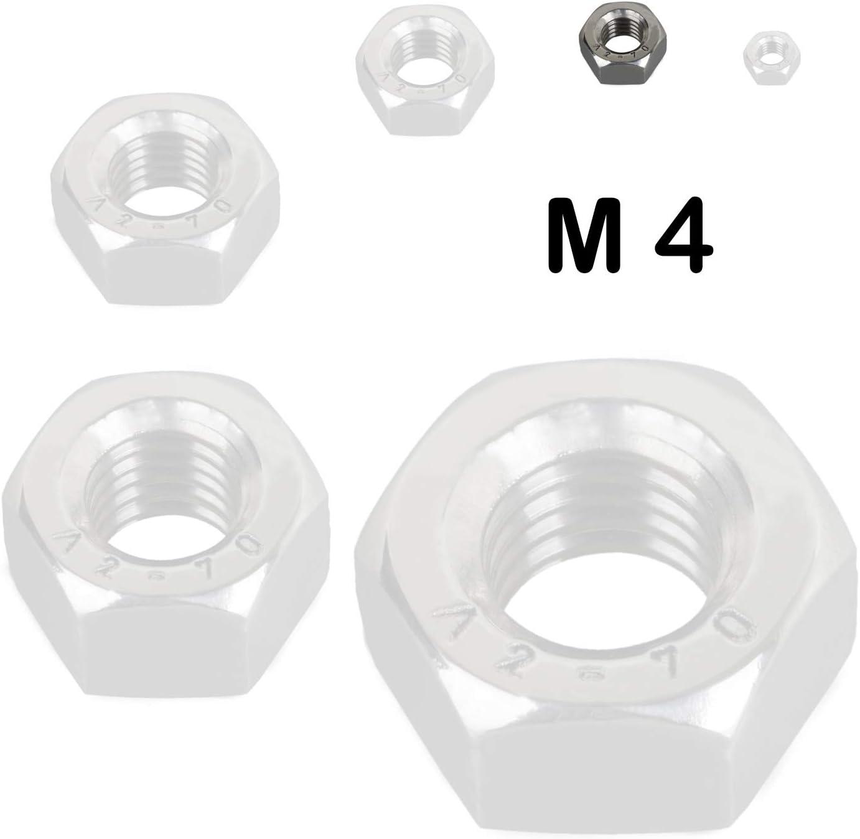 Metrisches Sechskant 100/St/ück Muttern Hex Full Muttern A2/Edelstahl M8/8/mm