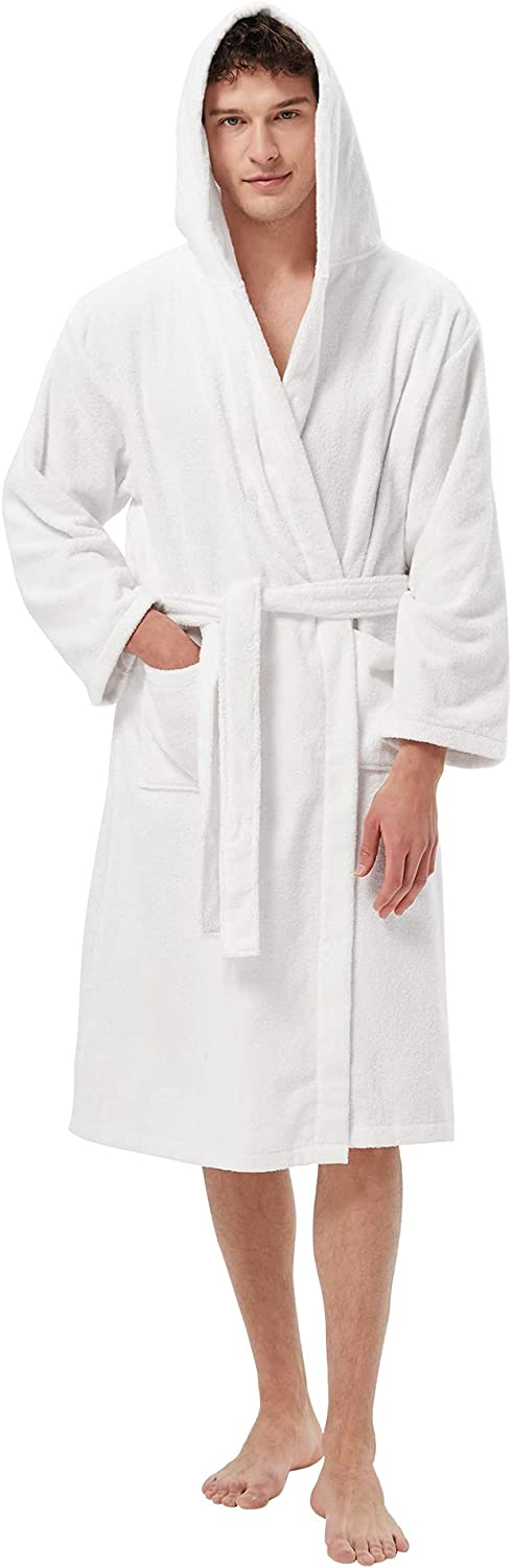 SIORO Men's Robe Hooded Classic New famous popularity Cotton Soft Terry Spa Bathrobe