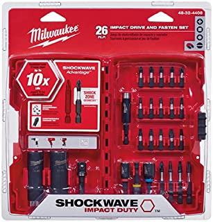 Milwaukee Electric Tool 48-32-4408 Shockwave Drive & Fasten Bit Set