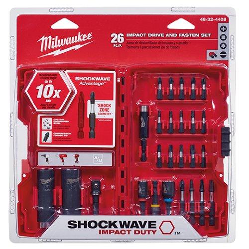 Milwaukee 48-32-4408 Shockwave Juego de puntas de destornill