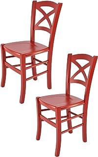 Amazon.fr : chaises cuisine rouge