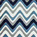 McAlister Textiles Navajo Cojines y Fundas, Chenilla, Azul Vaquero, Sample