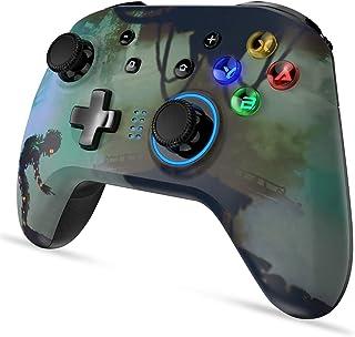 Switch ワイヤレスコントローラー 有線PCゲームパッド 連射 振動機能 スイッチ/Windowsに対応(ゾンビ)