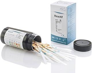 Test de orina Reactif con 5 indicadores - 100 tiras reactivas Test rápido de orina con escala de colores
