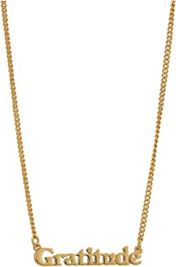 24K Gold Plated Good Intentions Necklace