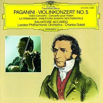 Paganini: Violin Concerto No.5; La Primavera; Maestosa Sonata sentimentale