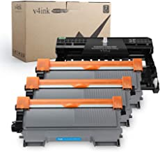 v4ink Compatible Toner Cartridge and Drum Unit Replacement for Brother TN450 TN420 DR420 use with HL-2270dw HL-2280dw HL-2230 HL-2240d MFC-7240 MFC-7360n MFC-7860dw Printer 4 Pack (1 Drum+3 Toner)