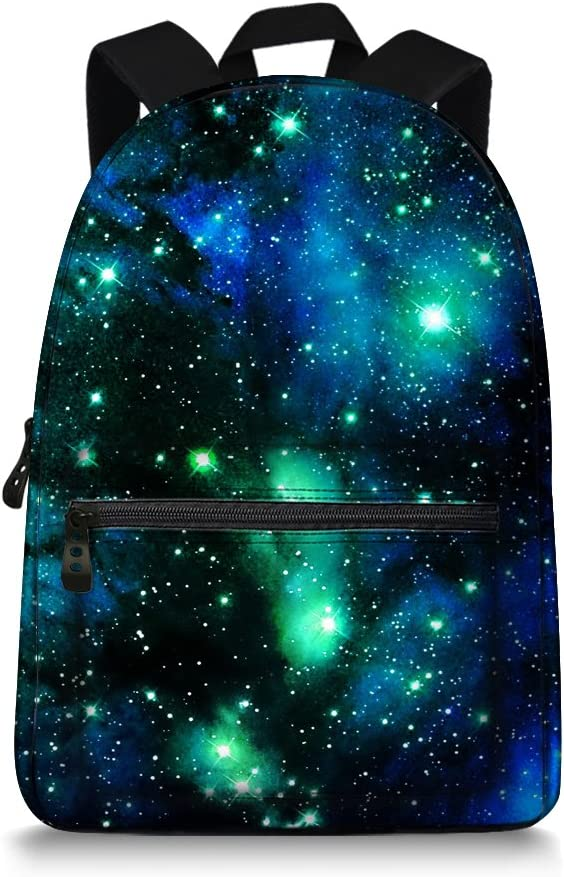 Galaxy Max 52% OFF Special Campaign Space Print Durale Kids Bookbag to School Back Canvas
