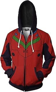 Adult Ayanami Rei Asuka Langley Soryu Hoodies Halloween Cosplay Costume Zip Up Jacket