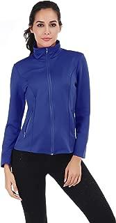 FISOUL Women's Running Sport Jacket Lightweight Full Zip Workout Track Jacket with Zipper Pockets