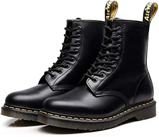 Dr. Martin Leather Boots Casual high-top Shoes Round Locomotive Hiking lace Boots Leather Platform Boot Unisex Adults' Ankle Boots Lace Up Leather Boots Non-slip Wear-resistant