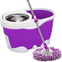 Mop,Household Mop Bucket Stainless Steel Mops Automatically Rotate The Mop