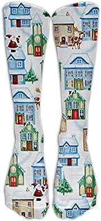 新しいクリスマスビレッジハウスアスレチックチューブストッキングレディースメンズクラシックニーハイソックススポーツロングソックス