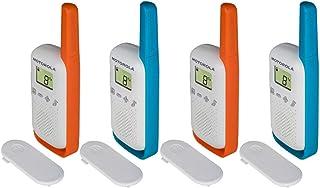 Motorola Uni T42 Quad Pack Walkie-Talkie, niebiesko pomarańczowe, 13 x 2,5 x 4,5 cm