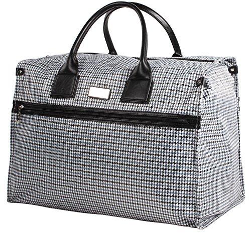 Nicole Miller New York Luggage Taylor Box Bag (Taylor Blue Plaid)
