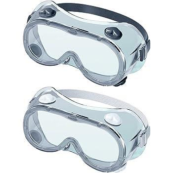 Gafas de Seguridad panor/ámicas Paquete de 2 Gafas de Seguridad contra Salpicaduras qu/ímicas iwobi Gafas Protectoras Transparentes Gafas de Seguridad