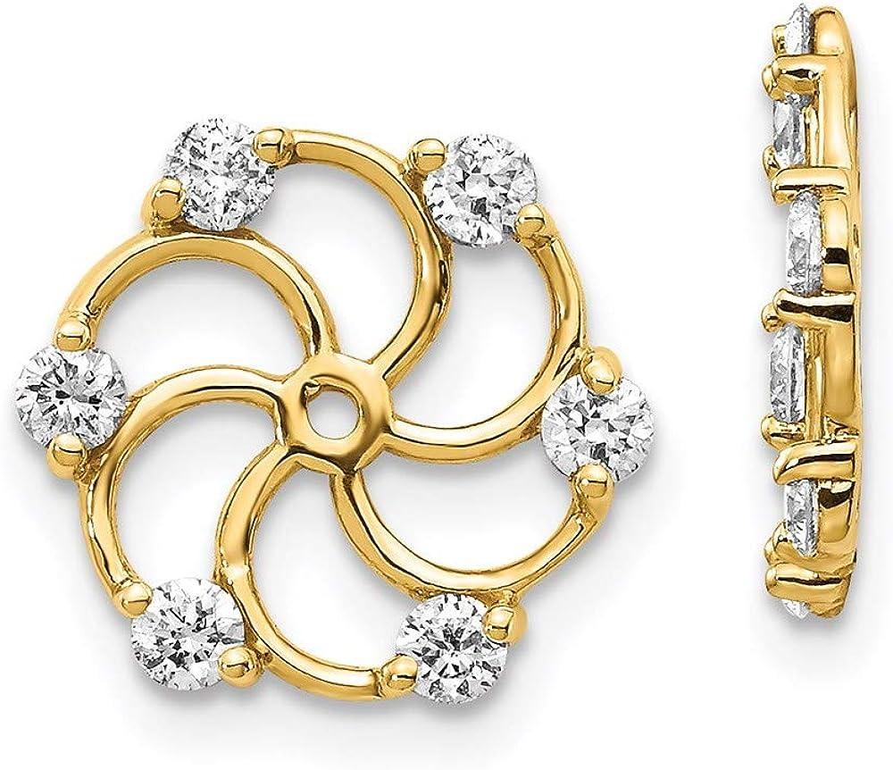 14k Diamond Earring Jacket Mountings 11mm 12mm style XJ5