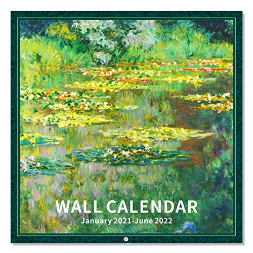2021-2022 Wall Calendar - 18 Monthly 2021-2022 Calendar 12 x 12 Inch with Thick Paper and Bright Colors, Jan. 2021- Jun. 2022 - Art Paintings