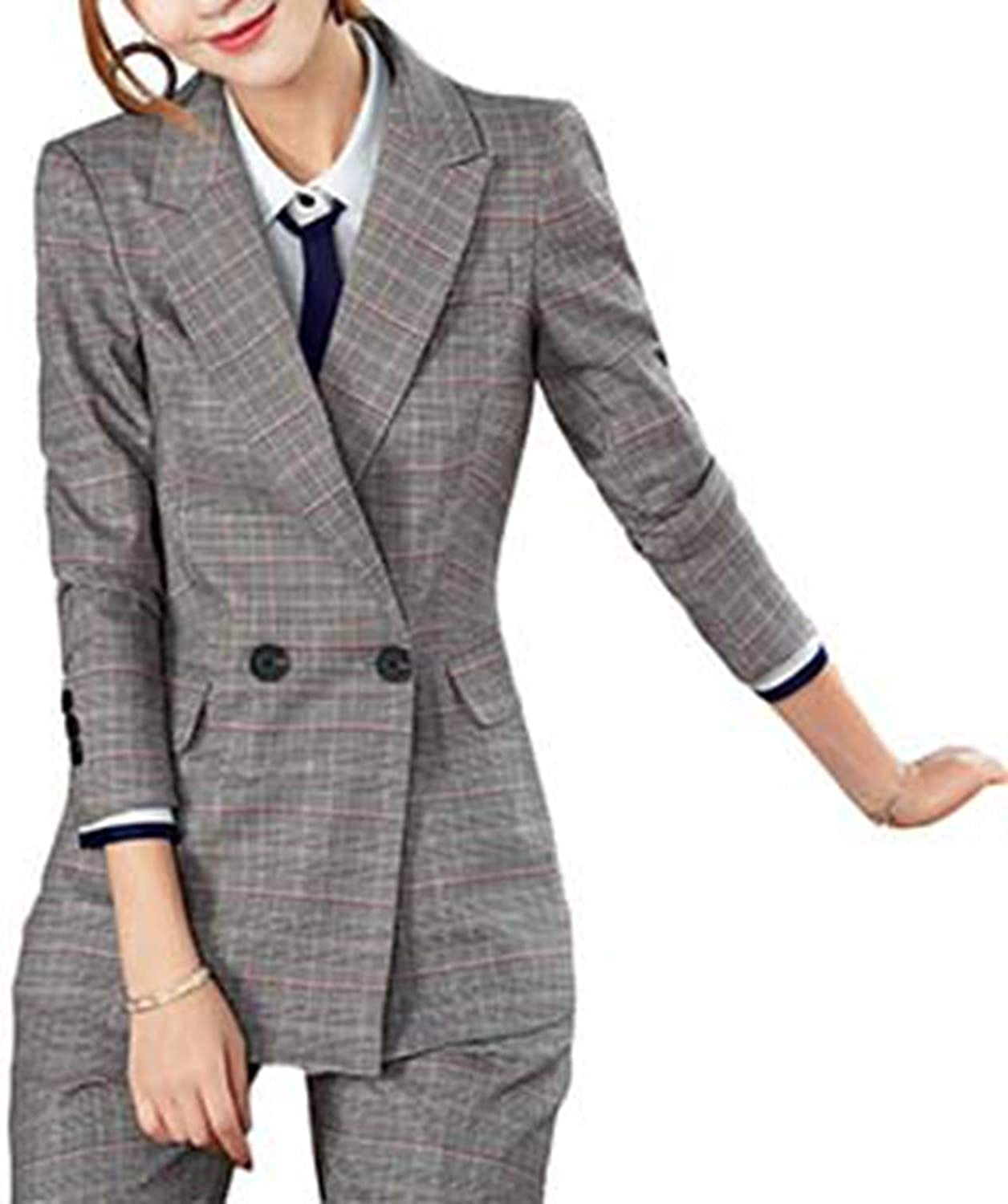 Ladies Office Formal Women Pant Suit 2 Piece Set Office Uniform Designs Women Business Set Work Wear 2019