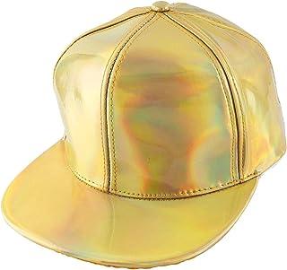 Ayliss Unisex Hip-hop Snapback Hat Hologram Laser Outdoor Flat Brim Baseball Cap