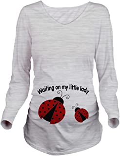CafePress Ladybug Red Long Sleeve Maternity Maternity Tee
