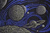 Sunshine Joy 3D Glow in the Dark Galactic Outer Space Planetary Psych Art...