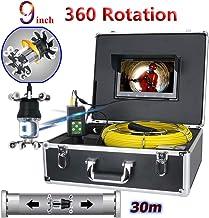 Nero DURAMAXX Inspex 4000 Profi videocamera per ispezioni Cavo da 40 m, Porte USB e SD, Uscita RCA, Monitor a Colori LCD da 7, 12 LED, valilgietta, Parasole, Pannello comandi, Telecomando