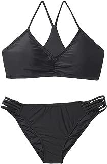 Women's Strappy Bottom Racerback Bikini Bathing Suits