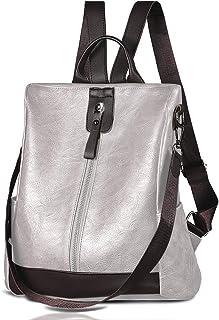 Damen-Rucksack, wasserdicht, diebstahlsicher, leicht, PU-Leder, modische Geldbörse, Schultertasche, Reiserucksack Damen