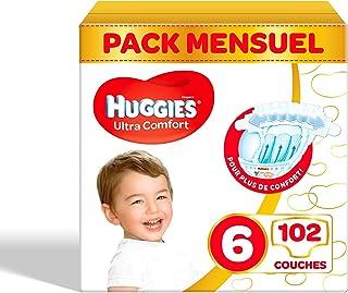 Huggies luiers maat 6 (15-30kg), Ultra Comfort, baby voordeelverpakking, 102 stuks