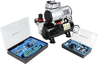 Timbertech - ABPST06 - aerografo con compresor Kit de aerógrafos y compresor de émbolo