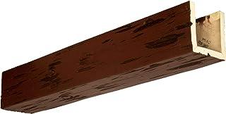 "Ekena Millwork BMPC3C0040X040X144PE Pecky Cypress 3-Sided (U-Beam) Hand Hewn, 4""W x 4""H x 12`L, Natural Pecan"