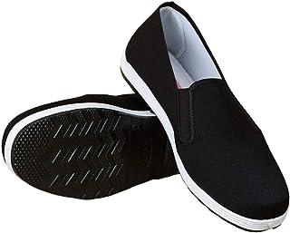 Zapatos de protección antideslizantes de fondo plano resistentes al desgaste 46, negro
