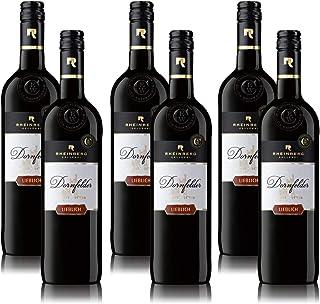 Rotwein Rheinberg Dornfelder Rotwein Pfalz QbA, lieblich, sortenreines Weinpaket 6 x 0,75 l
