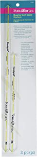 Fons & Porter R7845 Quarter Inch Seam Markers, 8-Inch & 12 -Inch, 2-Count