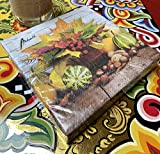 Papier Servietten Lunch Fest Party ca 33x33cm Herbst Autumn Halloween Winter Fall Bouquet - 2