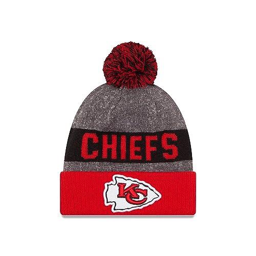 aedf862c3 Kansas City Chiefs New Era 2016 NFL Sideline On Field Sport Knit Hat - Red  Cuff