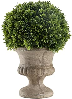 HO2NLE Mini Artificial Potted Plant Fake Greenery Grass Bonsai with Faux Topiary Shrubs Indoor for Home Kitchen Living Room Dining Table Centerpiece Decorations