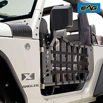 Full Set Rugged Ridge 13579.52 Tube Door Cover Black for  07-18 Jeep Wrangler JK