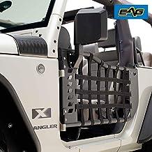 EAG Matrix Tubular Door with Side View Mirror Fit for 07-18 Jeep Wrangler JK 2 Door Only