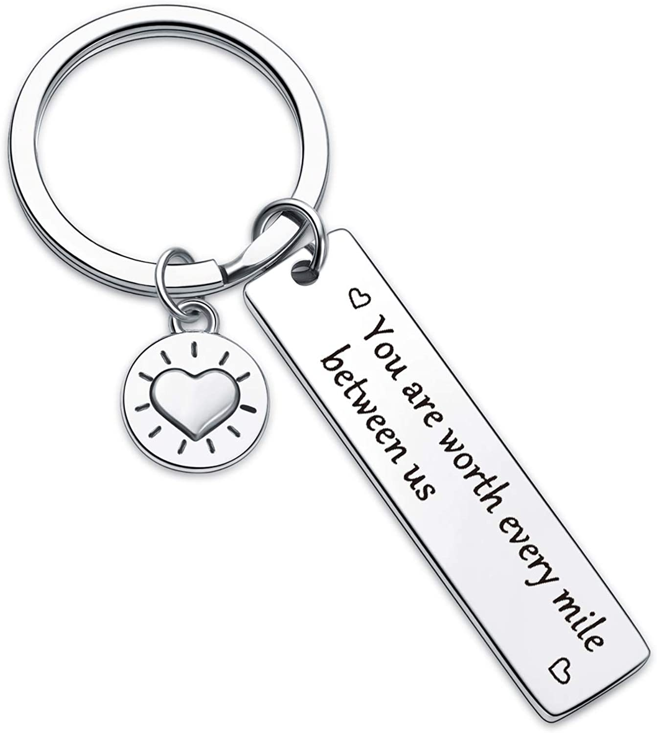 Long Distance Boyfriend Gift Long Distance Girlfriend Gift Best Friends Gift State Keychain Going Away Gift BFF Gift Mothers Day Gift LDR