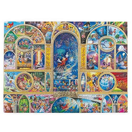Disney Personajes de 520 piezas rompecabezas 3d Hd, rompecabezas de descompresión para adultos, juego de rompecabezas para niños, decoración del hogar