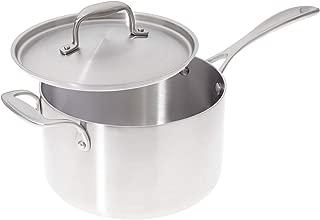 American Kitchen Premium Stainless Steel Covered 4 Quart Saucepan