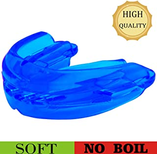 Sport Mouth Guard, Mouth Guard for Braces for Sports, Large Size/Professional Athlete, Upper and Lower Teeth Protection, Premium Quality No Boiling Required