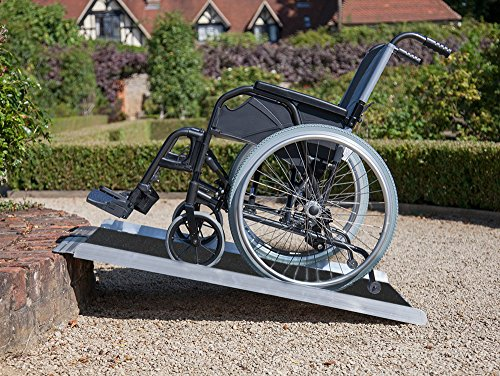 Our #4 Pick is the Clevr Extra Wide Non-Skid Aluminum Wheelchair Ramp