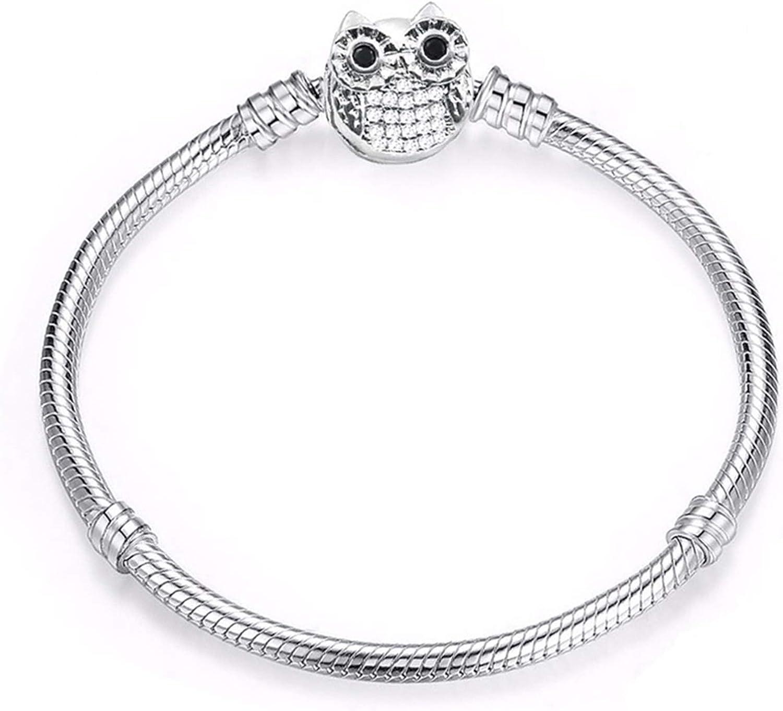WANGJINQIAO Charm Bracelet Financial sales sale Cute Mouse Chain Sale fine Basic Bra Snake