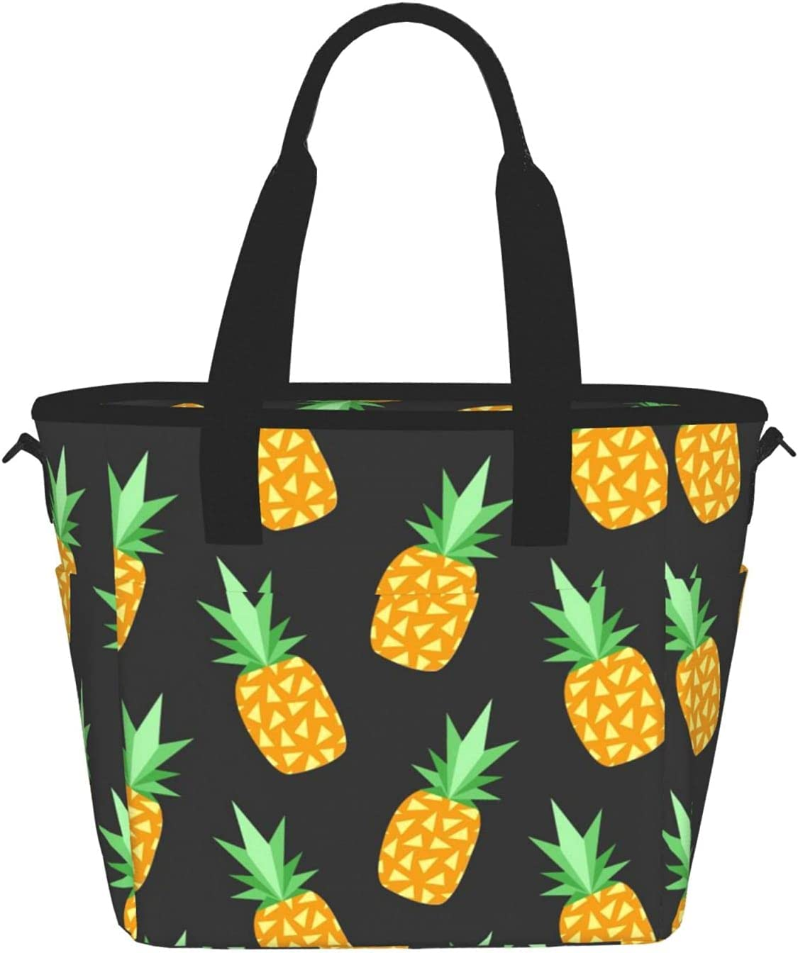 Yellow Pineappleprinting Year-end annual account Women'S Lunch Bag Portable Popular shop is the lowest price challenge Meal Fashion