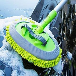 JINER Mikrofaser Autowaschbürste Langen Griff Einziehbar Weicher Pinsel Baumwolle Multifunktion 360 ° Rotative Wird Autofarbe Nicht Verletzen