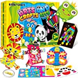 Art and Crafts for Kids Ages 3, 4, 5, 6, 7, 8 Years Old - All in One Fun Toddler Craft Box with 20 Different Patterns Art Activities Projects for Preschool - Creativity Craft Supplies for Boys & Girls