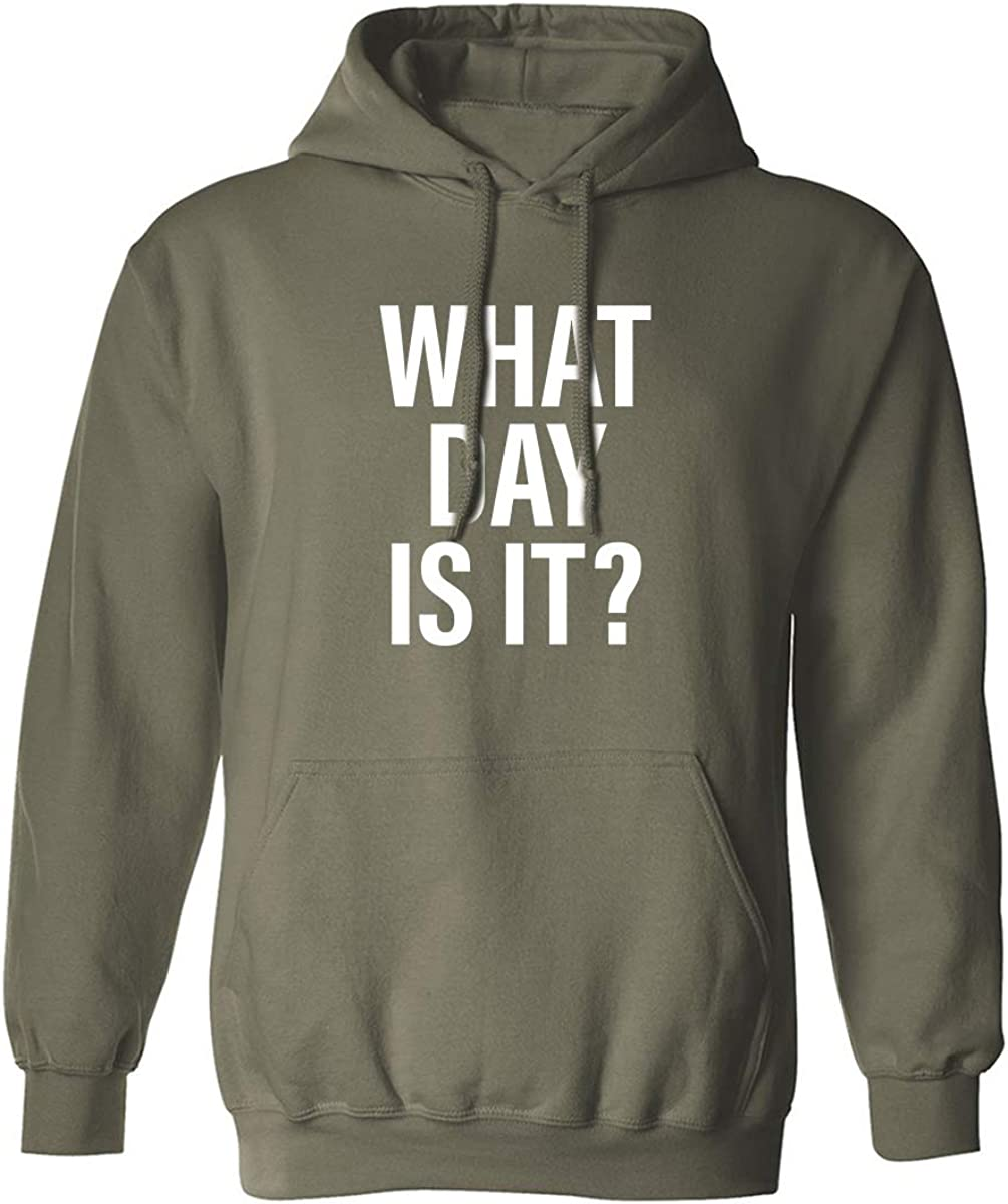 What day is it? Adult Hooded Sweatshirt